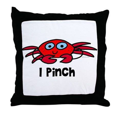 I pinch - crab Throw Pillow