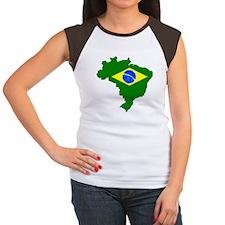 """""""Pixel Brazil"""" Women's Cap Sleeve T-Shirt"""