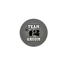 B&W Emblem Star Groom 12 Mini Button (10 pack)