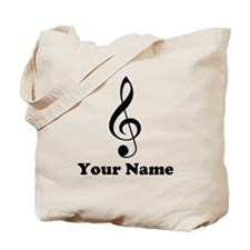 Personalized Musician Gift Tote Bag