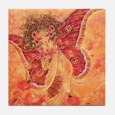 Crimson Wings Tile Coaster