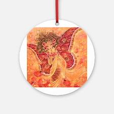 Crimson Wings Ornament (Round)