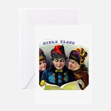 Bible Class Cigar Label Greeting Card