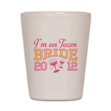 Bride Champagne 2012 Shot Glass