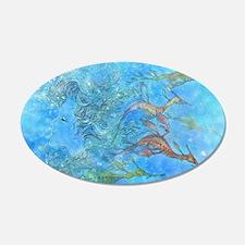 Aquamarine Tides 22x14 Oval Wall Peel