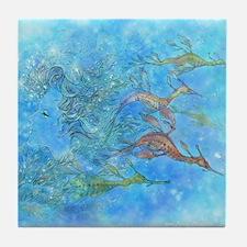 Aquamarine Tides Tile Coaster