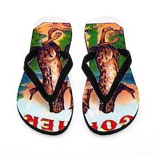 Gophers Cigar Label Flip Flops