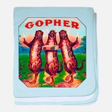 Gophers Cigar Label baby blanket