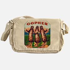 Gophers Cigar Label Messenger Bag