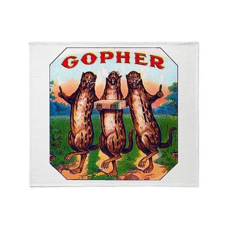 Gophers Cigar Label Throw Blanket
