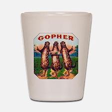 Gophers Cigar Label Shot Glass