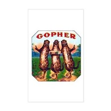 Gophers Cigar Label Decal