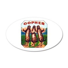 Gophers Cigar Label 22x14 Oval Wall Peel