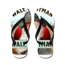 Walt Whitman Cigar Label Flip Flops