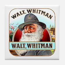 Walt Whitman Cigar Label Tile Coaster
