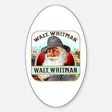 Walt Whitman Cigar Label Sticker (Oval)