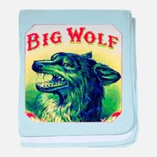Big Wolf Cigar Label baby blanket
