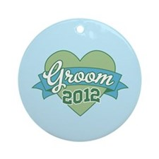 Groom Heart 2012 Ornament (Round)