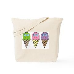Triple Cones! Tote Bag