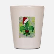 Christmas Fleur de lis Shot Glass