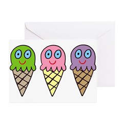 Triple Cones! Greeting Cards (Pk of 10)
