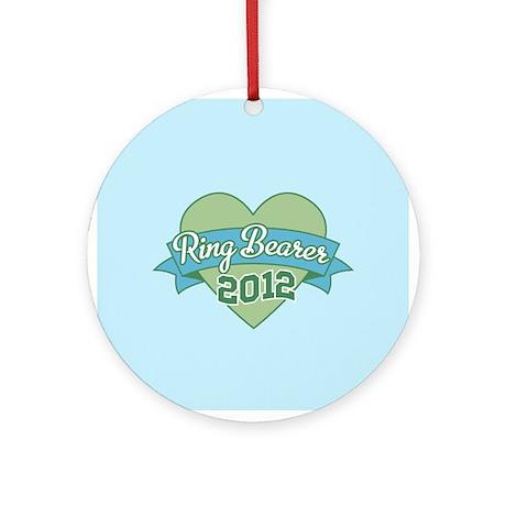 Ring Bearer Heart 2012 Ornament (Round)