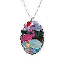 Santa Flamingo Necklace