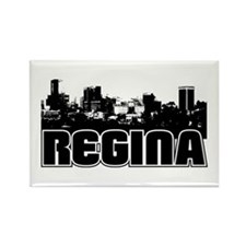 Regina Skyline Rectangle Magnet