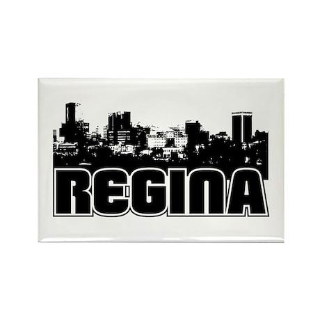 Regina Skyline Rectangle Magnet