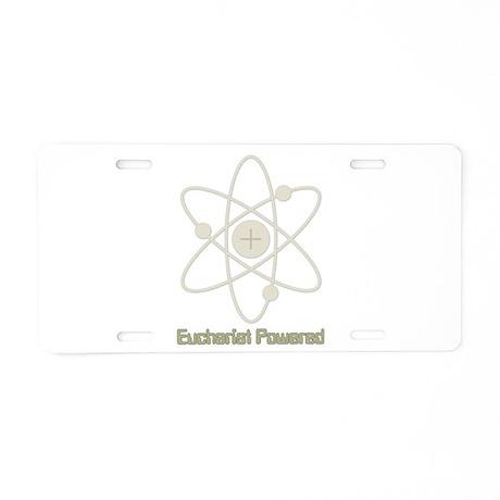 Eucharist Powered Aluminum License Plate