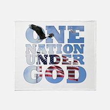 Cute One nation under god Throw Blanket