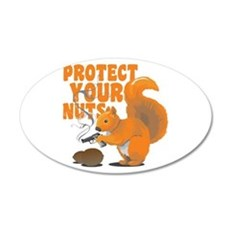 Protect Your Nuts 22x14 Oval Wall Peel