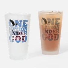 Cute One nation under god Drinking Glass