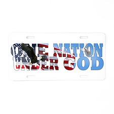 Unique God one nation Aluminum License Plate
