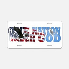 Cute One nation under god Aluminum License Plate