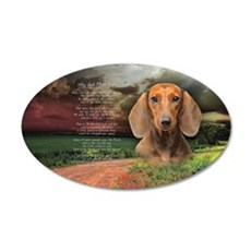"""Why God Made Dogs"" Dachshund 22x14 Oval Wall Peel"