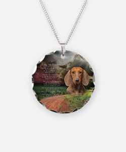 """""""Why God Made Dogs"""" Dachshund Necklace"""