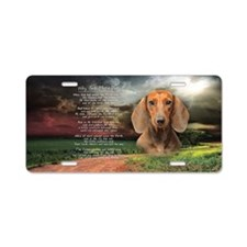 """Why God Made Dogs"" Dachshund Aluminum License Pla"