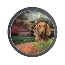 """Why God Made Dogs"" Dachshund Wall Clock"
