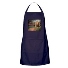 """Why God Made Dogs"" Dachshund Apron (dark)"