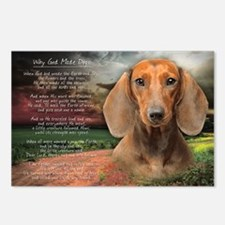 """Why God Made Dogs"" Dachshund Postcards (Package o"