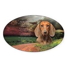 """""""Why God Made Dogs"""" Dachshund Decal"""