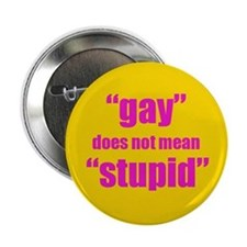 "Gay Does Not Mean Stupid 2.25"" Button"