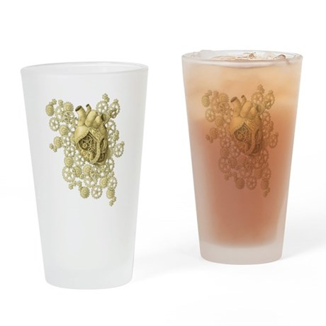 Heart of Brass Drinking Glass
