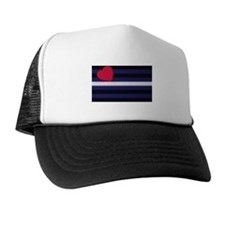 DIMPLE LOOK LEATHER PRIDE COLORS Trucker Hat
