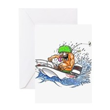 Whaler - Rat Fink Style Greeting Card
