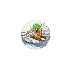 Whaler - Rat Fink Style Mini Button (10 pack)