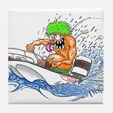 Whaler - Rat Fink Style Tile Coaster