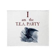 I am the TEA Party Throw Blanket