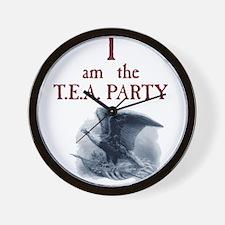 I am the TEA Party Wall Clock